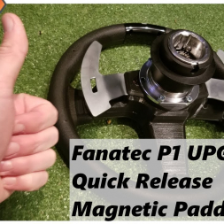 Fanatec P1 wheel rim upgrades!  Magnetic Paddles + quick release