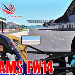 Williams FW14 HOTLAP at Silverstone - rFactor 2 - 4K