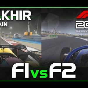 Codemasters F1 2019 | F1 car vs F2 car | Sakhir, Bahrain