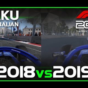 Codemasters F1 2019 | 2018 vs 2019 | Baku, Azerbaijan