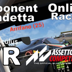 Online opponent DROPS BACK A LAP TO WRECK after collision that was HIS FAULT (ACC VR)