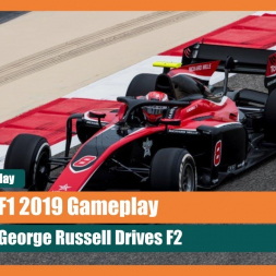 F1 2019 Gameplay: George Russell Goes Faster Than a Williams! F2 Baku Gameplay