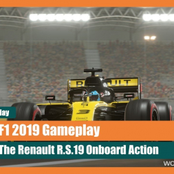 F1 2019 Gameplay: Racing the Renault R.S.19 Under Lights in Bahrain