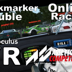 Online VR race - squabbling backmarkers crash then take out the leader