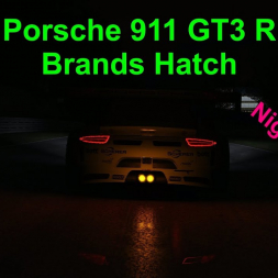 Porsche 911 GT3 R - Brands Hatch - Night & Rain - Assetto Corsa (reworked)