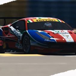 rFactor2 Le Mans DLC testing with a Ferrari 488 GT3