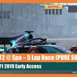 F1 2019: Formula 2 at Spa - 5 Lap Race (Pure Sounds)