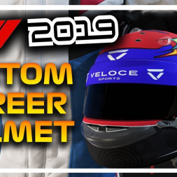 F1 2019 CUSTOM CAREER MODE HELMET TUTORIAL!!!