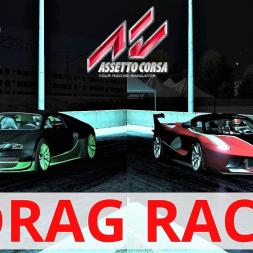 Ferrari FXX-K VS Bugatti Veyron Super Sport | 2000m Drag Race | Assetto Corsa | 4K