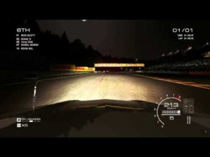 GRID AUTOSPORT gameplay: Mercedes Class B touring car around SPA