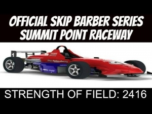 iRacing Official Skip Barber race from Summit Point Raceway