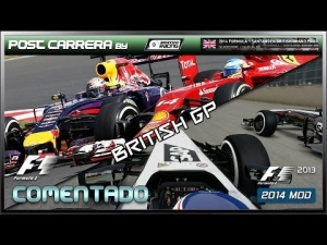 F1 2013 Gameplay (2014 British GP | Post Carrera by ADRIANF1esp | Comentado)