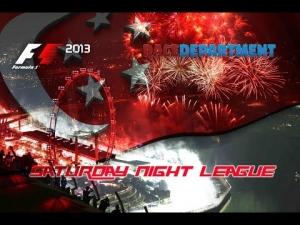 F1 2013   RD Saturday Night League - Season 3   R14: Singapore Grand Prix