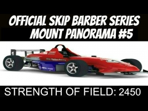 iRacing Official Skip Barber race from Mount Panorama #5 - Is he damaged?