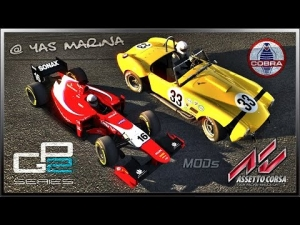 Assetto Corsa - NEW Shelby Cobra S/C & GP2 2014 (MODs) @ Yas Marina Circuit