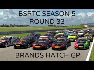 iRacing BSRTC Season 5 Round 33 from Brands Hatch Circuit - Going out with a wimper