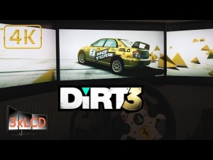 Dirt 3 Triple Screen snowy rally Subaru N12 Norway in Ultra settings POV 4K
