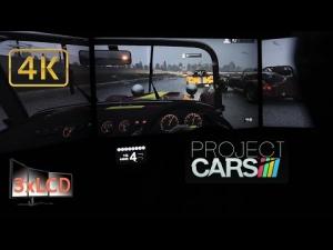 Project CARS stormy race Caterham Triple Screen in Ultra settings POV 4K