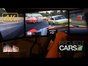 Project CARS rainy race Mercedes-Benz 300SEL Triple Screen in Ultra settings POV 4K