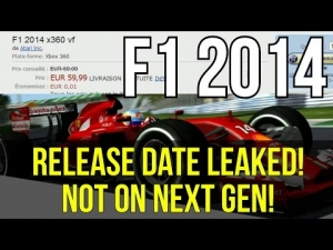 F1 2014 Game - RELEASE DATE LEAKED! & F1 2014 Not On Next Gen?! - (F1 2014 Game News)