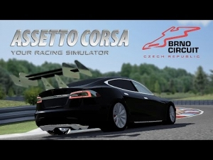 Assetto Corsa [HD+] ★ Tesla Motors Model S GT WIP @ Automotodrom Brno