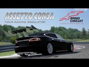 Assetto Corsa [HD+] ★ Tesla Motors Model S GT WIP @ Automotodrom Brno
