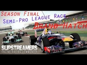 F1 2013 - Slipstreamers Sunday Semi-Pro League Race - Brand Hatch 50%
