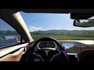 Tesla Model S vs BMW @ Gen Track 1