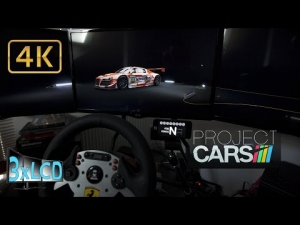 Project CARS night rain Blancpain virtual 24hrs of Spa 2014 Triple Screen in Ultra settings POV 4K