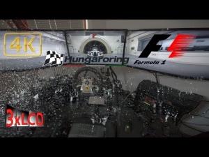 F1 2014 mods WET Hungaroring highlights Triple Screen in Ultra settings POV 4K