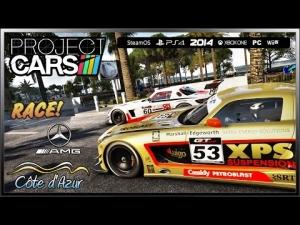 Project CARS Race! - (Ultra Settings) Mercedes SLS AMG GT3 @ Côte d'Azur S1