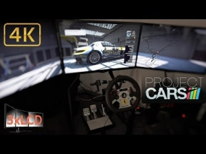 Project CARS Ring race SLS GT3 Triple Screen in Ultra settings POV 4K
