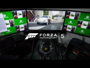 Forza 5 nostalgia race Volkswagen Beetle at Prague with Thrustmaster TX wheel