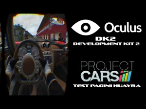New Oculus Rift DK2 - Project CARS - Test Pagani Huayra