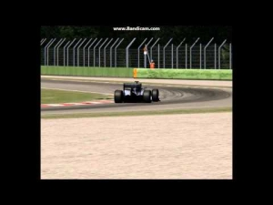 F1 V10 engine blow (almost) + crash