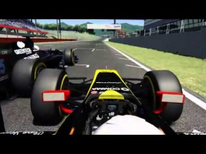 Assetto Corsa - GP2 Overtake - Almost on the grass!