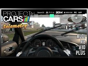 Project CARS ~ Audi R8 V10 Plus + Telemetry @ Brands Hatch