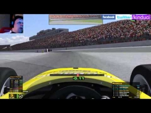 iRacing Official Skip Barber race from New Hampshire Road course - Good clean race