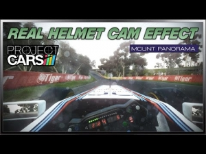 Project CARS - Real Helmet Cam Effect (Formula A @ Mount Panorama)