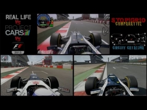 Project CARS Vs Real Life Vs F1 2013 @ Cataluña - Comparative