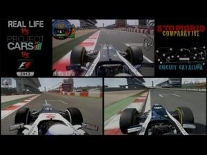 Project CARS Vs Real Life Vs F1 2013 @ Cataluña - Comparative