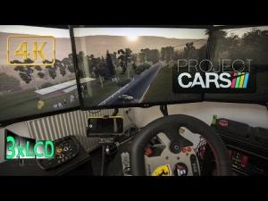 Project CARS sunrise at Bathurst in Mercedes SLS Triple Screen in Ultra 4K onboard