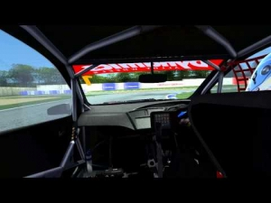 Gergo Baldi - First laps with the Honda Civic BTCC, in rF2