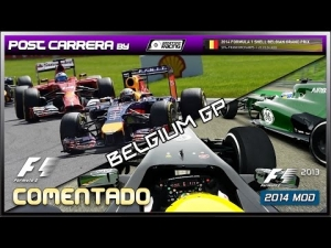 F1 2013 Gameplay (F1 - 2014 Belgium GP | Post Carrera by ADRIANF1esp | Comentado)