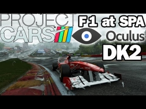 Oculus Rift DK2 - Project CARS - F1 @ SPA Francorchamps WET