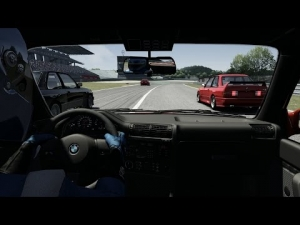 Assetto Corsa Online Race: Chase to the First - BMW E30 at Nurburgring (with low grip)