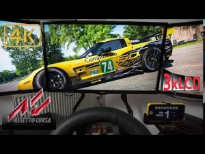 Assetto Corsa Corvette GT2 race at RING Triple Screen in Ultra 4K onboard