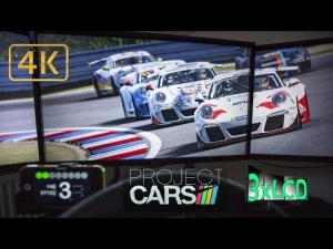 Project CARS Porsche Supercup at Brno VERVA Team Triple Screen in Ultra 4K onboard