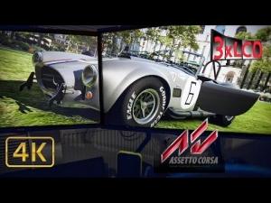 Assetto Corsa Shelby Cobra at Old Hockenheim Triple Screen in Ultra 4K onboard