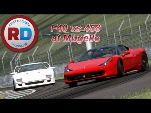 Assetto Corsa MP - Ferrari 458 vs Ferrari F40 at Mugello [Racedepartment]